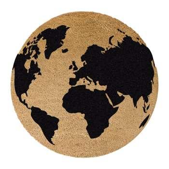 Artsy Doormats - Globe Door Mat - Round (70 x 70cm)