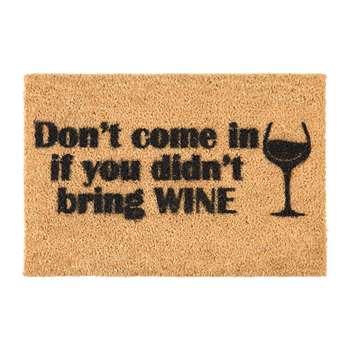 Artsy Doormats - Without Wine Door Mat (H40 x W60cm)