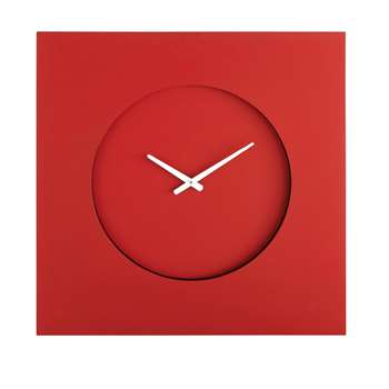 ARTY Square Red Light-Up Clock (H70 x W70 x D5cm)