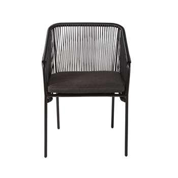 ARUN Black Garden Armchair (78 x 55cm)
