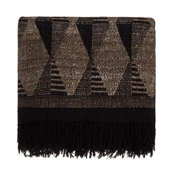 Arvi Wool Blanket, Black & Natural (130 x 160cm)