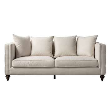 Ascot Three Seat Sofa – Calico (H80 x W210 x D92cm)