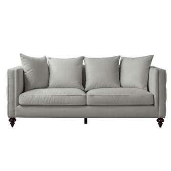 Ascot Three Seat Sofa – Dove Grey (H80 x W210 x D92cm)