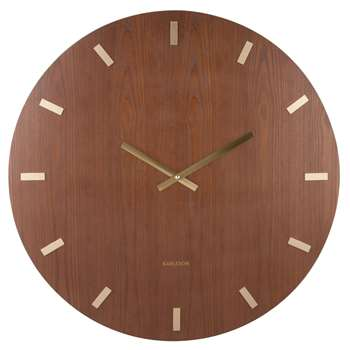 Ash and gold wall clock (70 x 70cm)