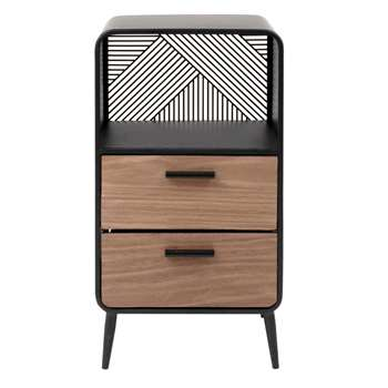 ASHTON - Small 1-Niche 2-Drawer Storage Unit (H55 x W30 x D25cm)