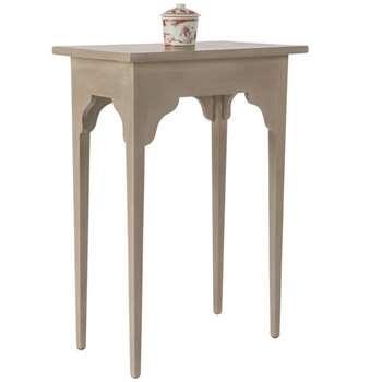 Ashurst Sofa Side Table, Small - Cream/Natural (70 x 50cm)