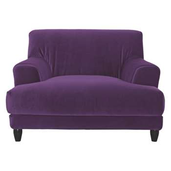 Askem Purple velvet compact sofa