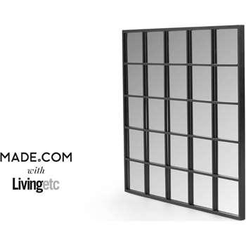 Aspect Mirror, Black (85 x 75cm)