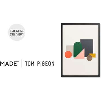 Assembly by Tom Pigeon Framed Wall Art Print, Multi (H73 x W53 x D3cm)