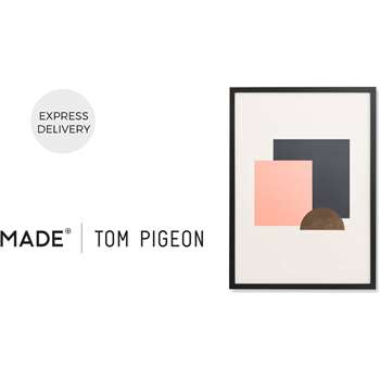 Assembly by Tom Pigeon Framed Wall Art Print, Pink & Gold Foil (H73 x W53 x D3cm)