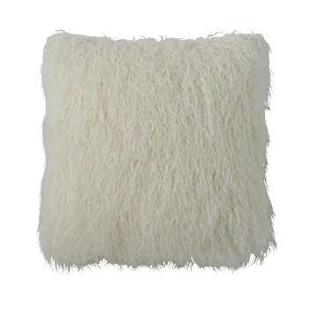 ASTRAKAN Faux Fur Cushion in Ecru (H45 x W45cm)
