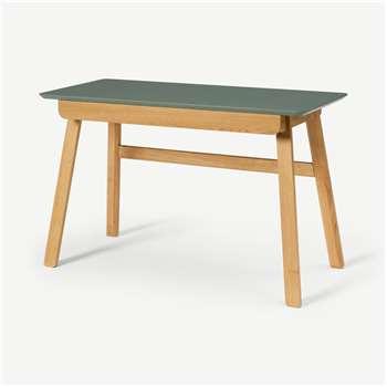 Asuna Desk, Oak & Fern Green (H77 x W120 x D55cm)