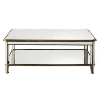 ATHENEE - Mirror and Metal Coffee Table (H45 x W116 x D61cm)