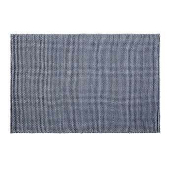 ATHENEE - Woven Wool Rug in Anthracite Grey (H140 x W200 x D2cm)