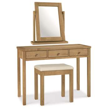 Atlanta Oak Dressing Table Set (H76 x W105 x D42cm)