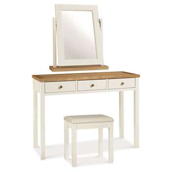 Atlanta Two Tone Dressing Table Set (H76 x W105 x D42cm)