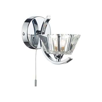 Atlas Wall Light Polished Chrome (H14 x W10 x D18.5cm)