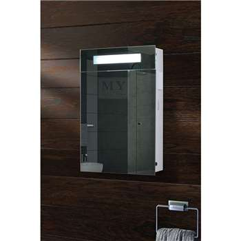 Atomic Illuminated Bathroom Mirror Cabinet (61 x 41cm)