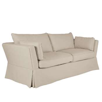 Aubourn 3-Seater Sofa - Natural (97 x 226cm)