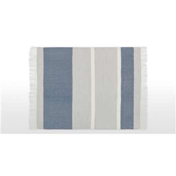 Auburn Throw, Blue & Grey (H130 x W170cm)