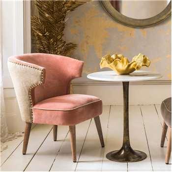 Audrey Rose Velvet Chair (H73 x W58 x D59cm)