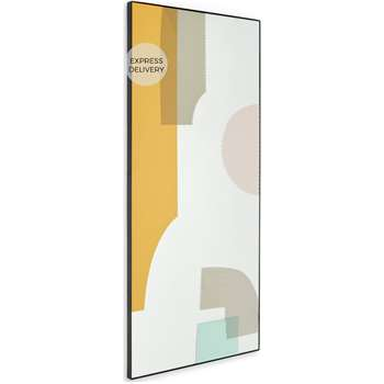 Augusta Screenprinted Printed Dress Mirror, Multicoloured (H100 x W45 x D20cm)