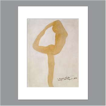 Auguste Rodin - Dance Movement Unframed Print with Mount (H40 x W30 x D0.2cm)