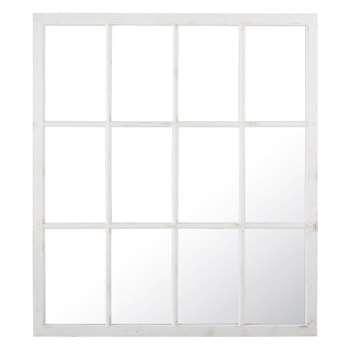 AUGUSTIN - White Pine Window Mirror (H160 x W140 x D4cm)