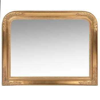AUGUSTINE Matte Gold Paulownia Mirror (H70 x W90 x D4cm)