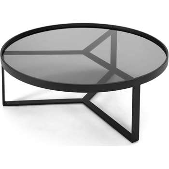 Aula Coffee Table, Black and Grey (35 x 90cm)