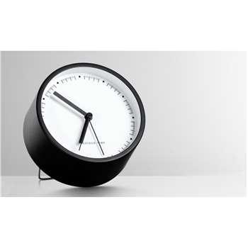 Aurelia Alarm Clock, Matt Black (11 x 11cm)