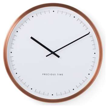 Aurelia Large Wall Clock, Copper (Diameter 50cm)
