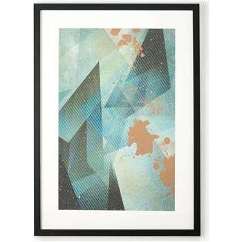 Aurelia Tones Framed Print, Green and Copper (70 x 50cm)