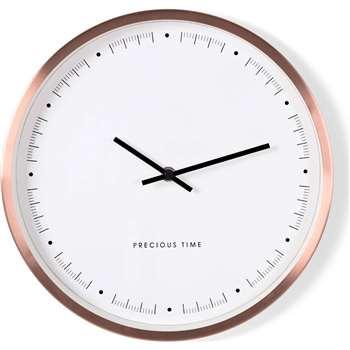 Aurelia Wall Clock, Copper (Diameter 30cm)