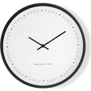 Aurelia Wall Clock, Matt Black (30 x 30cm)