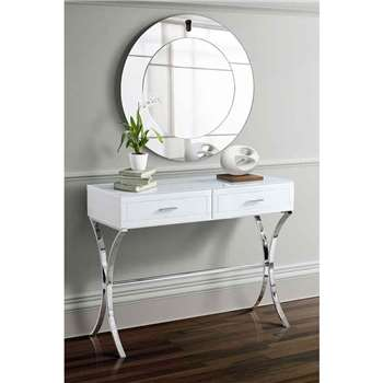 Aurelia White Glass Dressing Console (80 x 101cm)