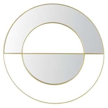 AURORA - Round Gold Metal Mirror (Diameter 100cm)