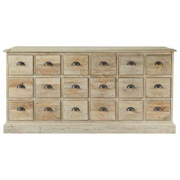 AUSANNE Recycled wood counter chest (83 x 170cm)