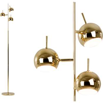 Austin Floor Lamp, Brass (165 x 27cm)