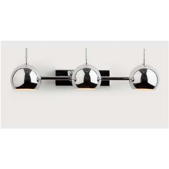 Austin Spot Wall Light, Chrome (17 x 46cm)