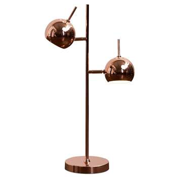 Austin Table Lamp, Copper (H50 x W30 x D13cm)