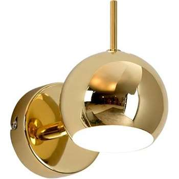 Austin Wall Lamp, Brass (H7.5 x W7.5 x D9cm)