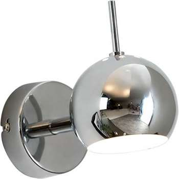 Austin Wall Lamp, Chrome (H7.5 x W7.5 x D9cm)