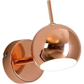 Austin Wall Lamp, Copper (H7.5 x W7.5 x D9cm)