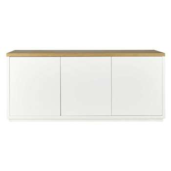 AUSTRAL - 3-Doors White Sideboard (H76 x W175 x D45cm)