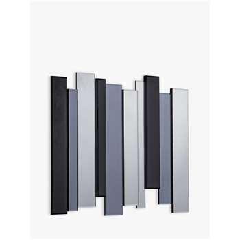 Ava Abstract Mirror, 70 x 80cm, Silver/Black (H70 x W80 x D3cm)