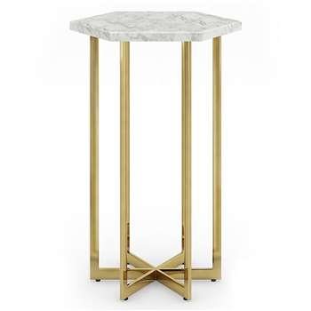 Ava Side Table, Marble (H59 x W44 x D38cm)