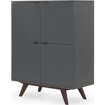 Aveiro Cabinet, Dark Stain Oak and Grey (122 x 100cm)