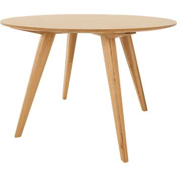 Aveiro Round Dining Table, Oak (75 x 110cm)