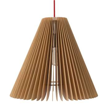 Avenal Pendant Lamp, Natural With Red Cord 45 x 37cm